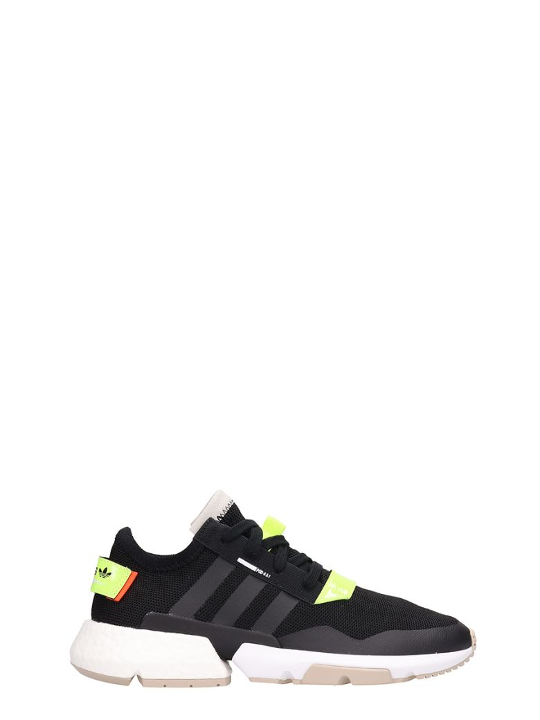 Adidas Black Fabric Pod S3.1 Sneakers - black