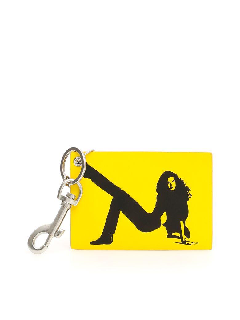 Calvin Klein Unisex Icon Key Charm - LEMON YELLOW|Giallo