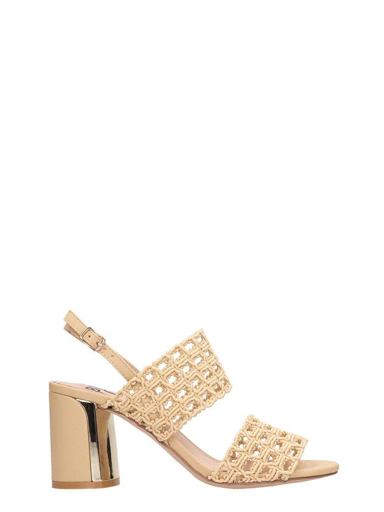 Bibi Lou Taupe Canvas Sandals - Brown