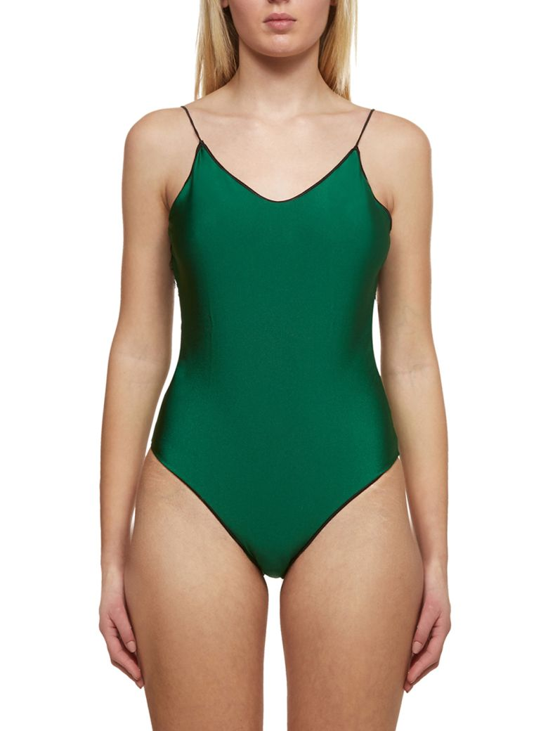 Oseree Lace Insert Swimsuit - Verde