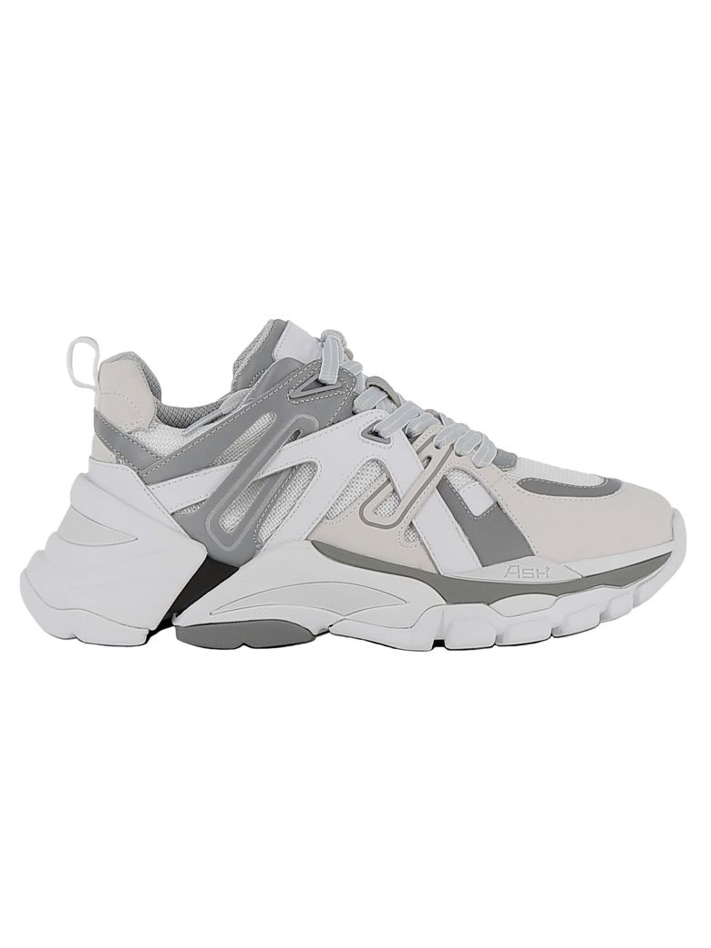 Ash White/silver Leather Sneakers - WHITE/SILVER