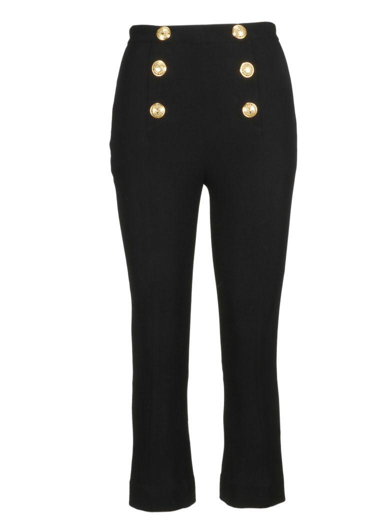 Balmain Button Detail Cropped Trousers - Basic