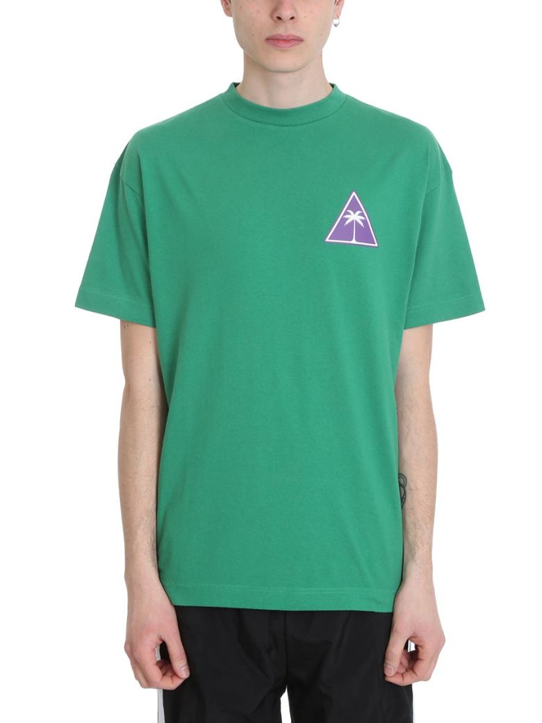 Palm Angels Palm Icon Green Cotton T-shirt - Green