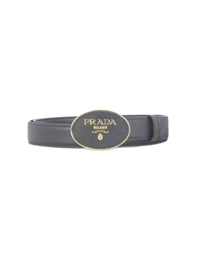 Prada Saffiano Logo Belt - Fbla
