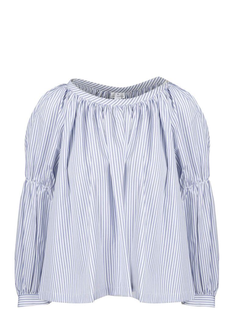 Comme des Garçons Comme des Garçons Stripes Long Sleeve Blouse - Blue