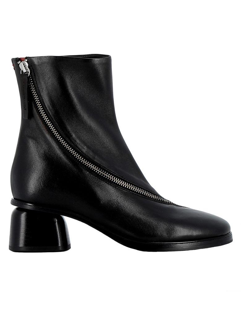 Halmanera Black Leather Ankle Boots - BLACK
