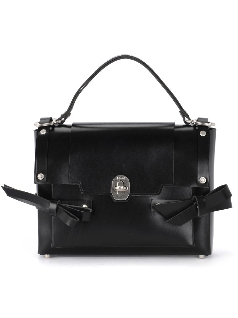 Niels Peeraer Modello Bow Black Leather Bag - Black