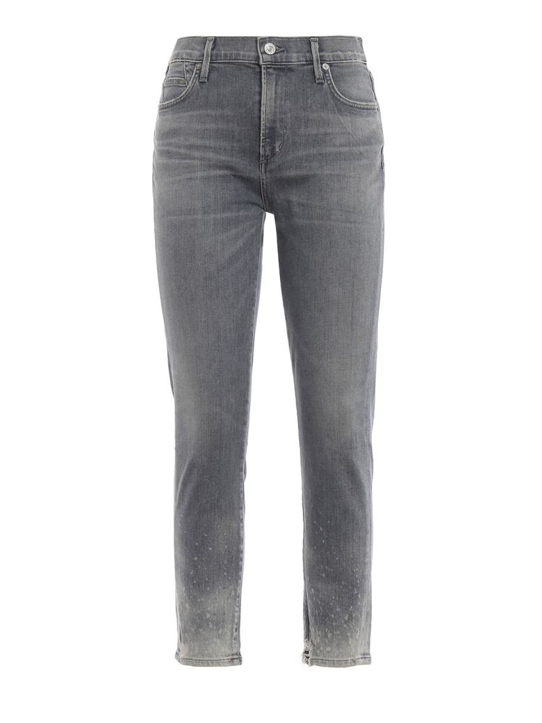 Citizens of Humanity Distressed Cropped Jeans - Salt Stone