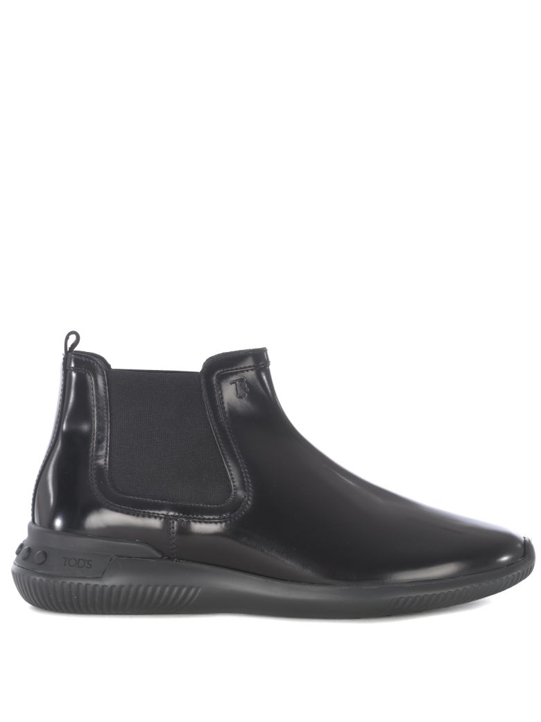 Tod's Smooth Leather Ankle Boots - Black