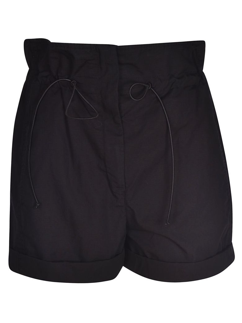 Tela Drawstring Cropped Shorts - Black