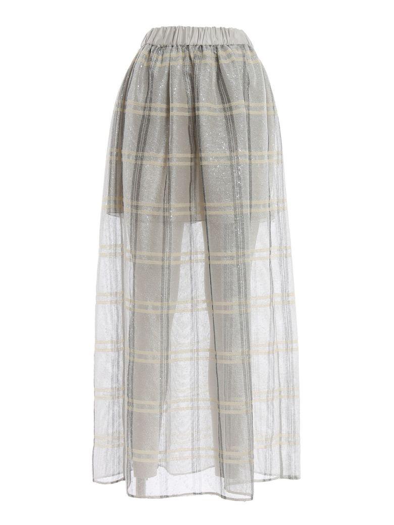 Emporio Armani Emporio Armani Sequined Check Full Skirt - Multicolour