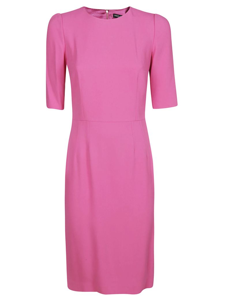 Dolce & Gabbana Quarter Sleeved Dress - Fuchsia