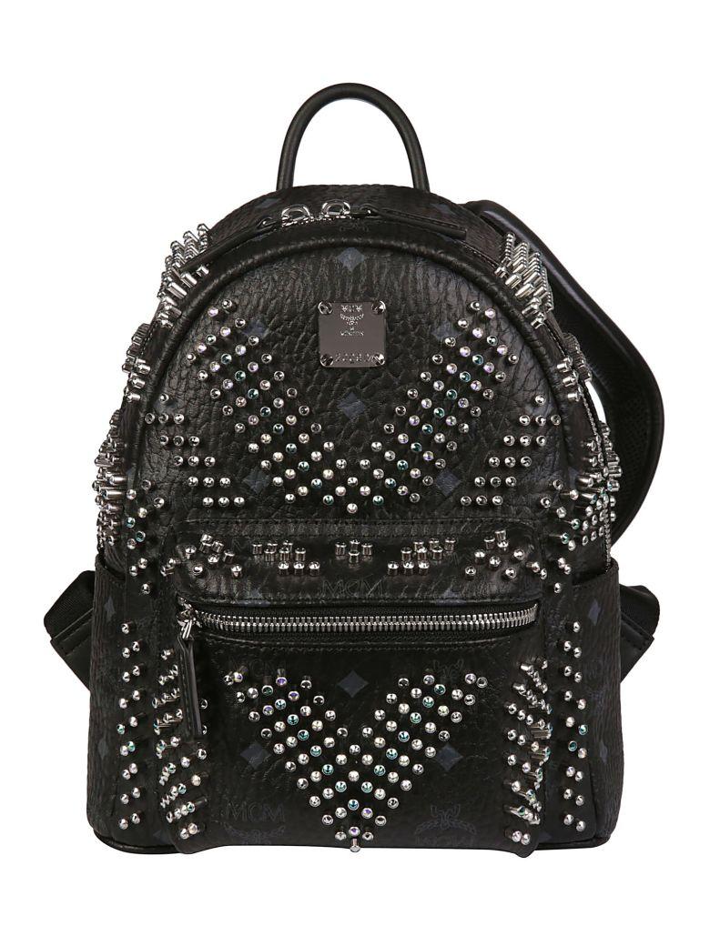 MCM Stark Studs Back Pack - Black