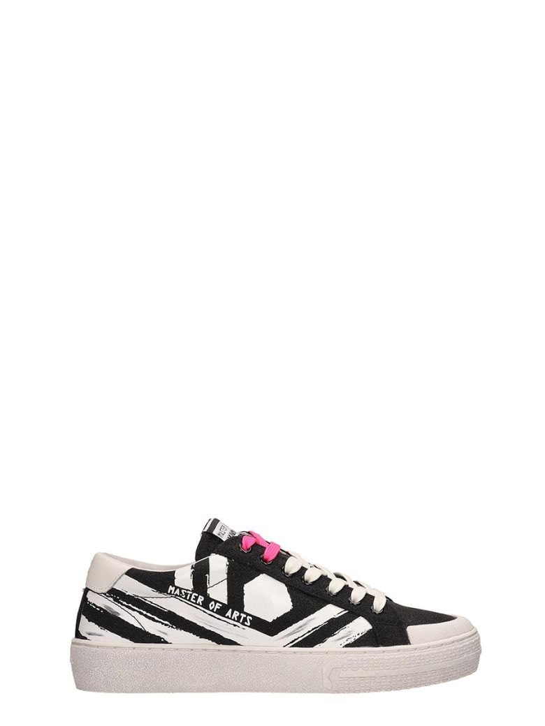 M.O.A. master of arts Black And White Glitter Sneakers - black