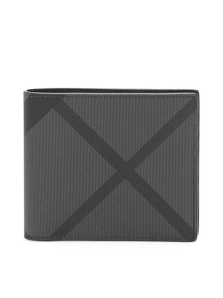 Burberry London Check Bi-fold Wallet - CHARCOAL BLACK (Black)