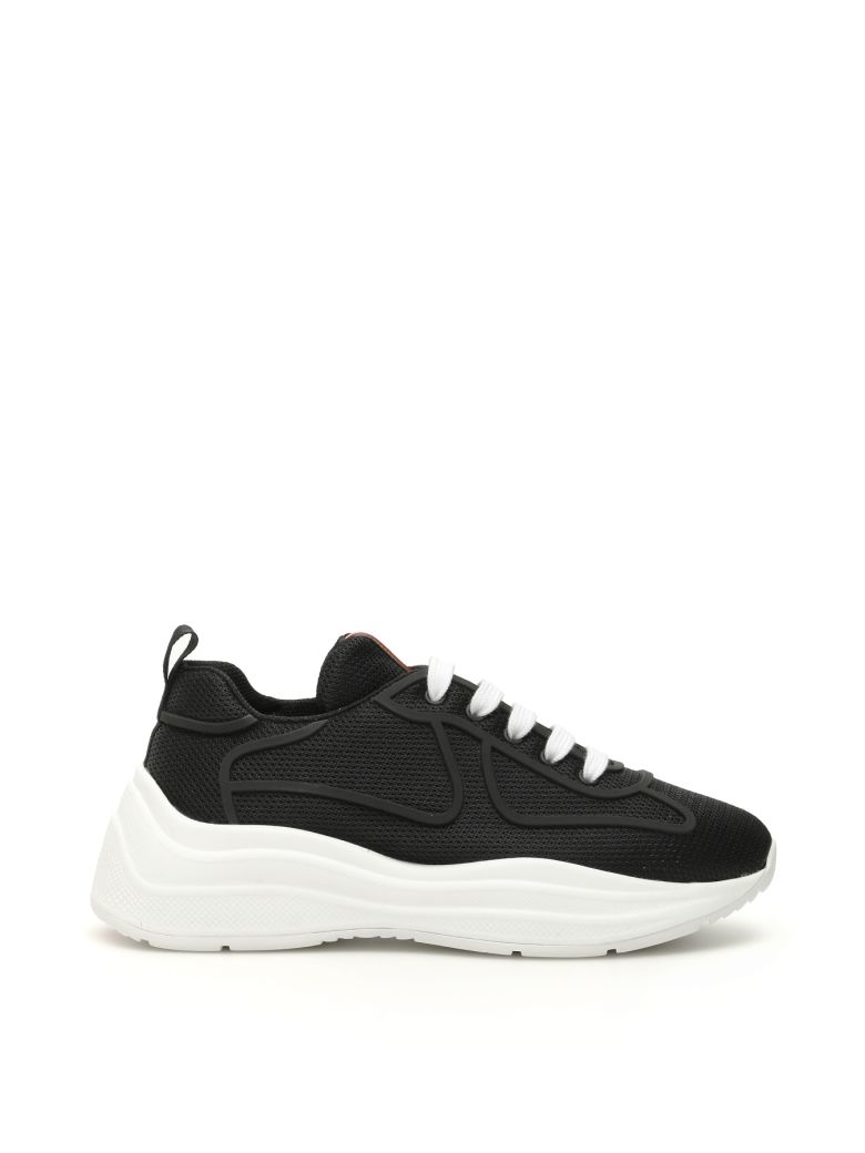 Prada Mesh Sneakers - NERO BIANCO (Black)