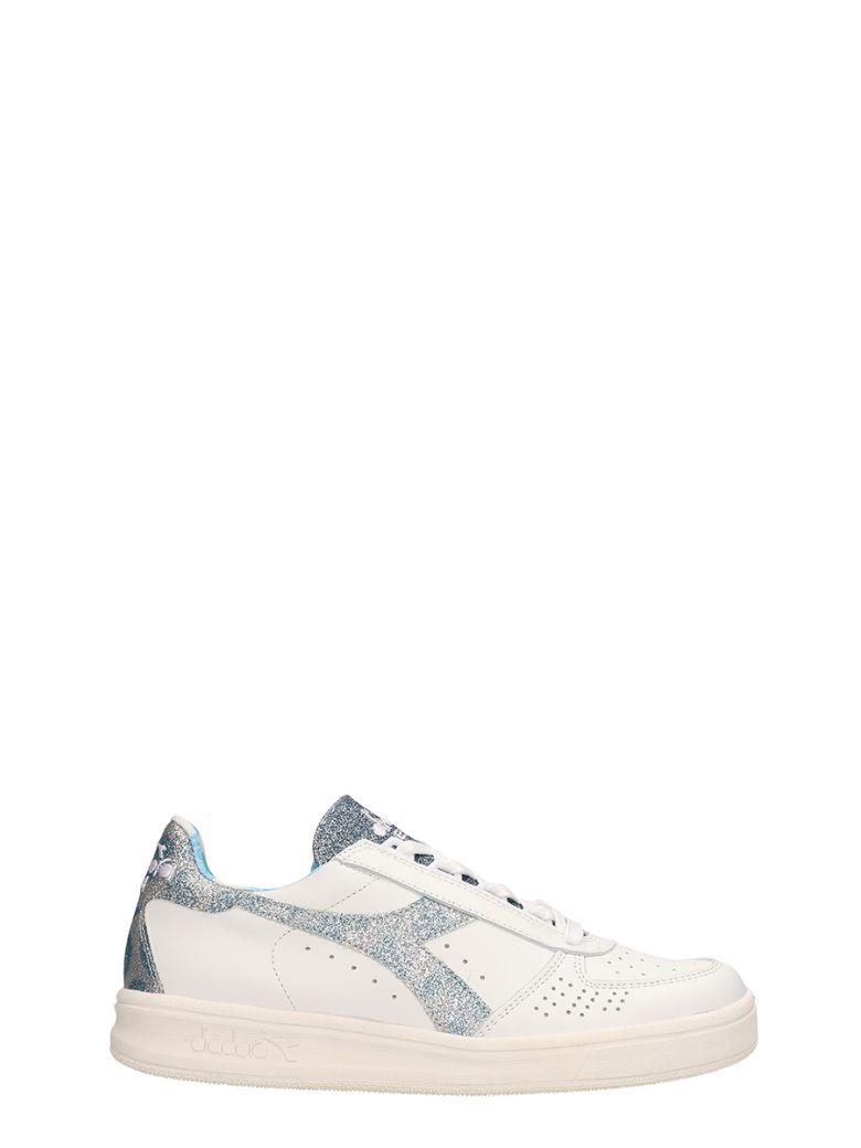 Diadora White Leather Sneakers - white