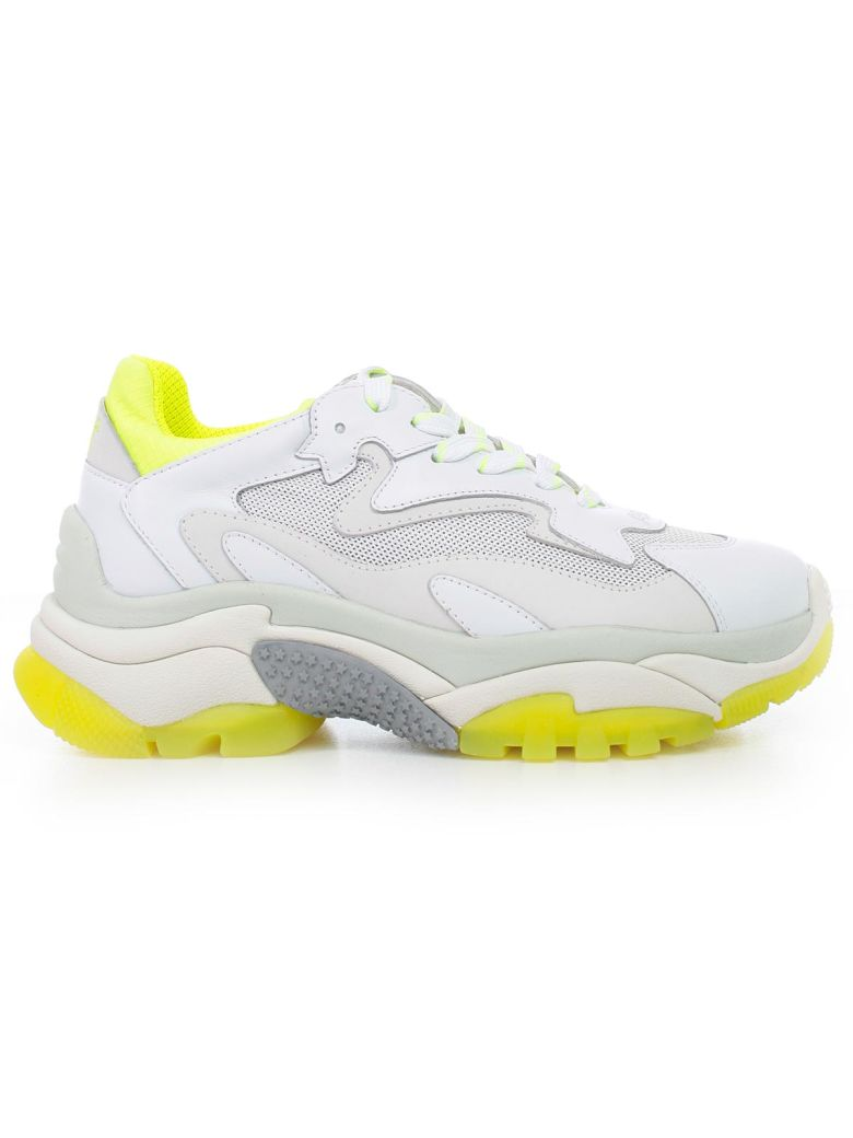 Ash Mesh Panel Sneakers - White Fluo Yellow