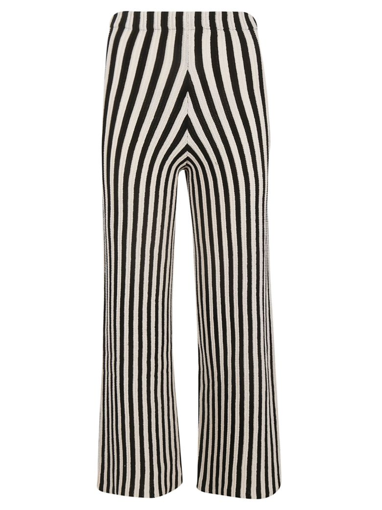 Circus Hotel Striped Trousers - White