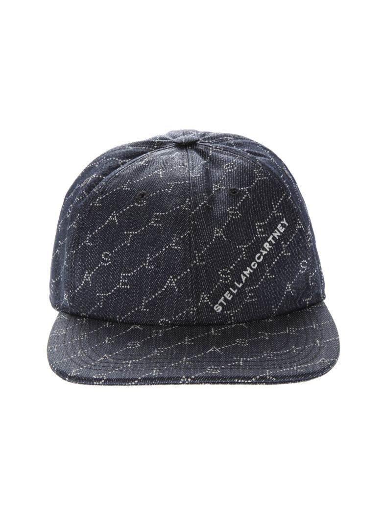 Stella McCartney Navy Monogram Baseball Cap - Navy