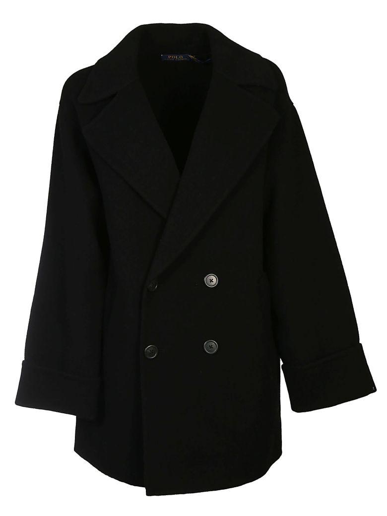 Ralph Lauren Double Breasted Coat - Black