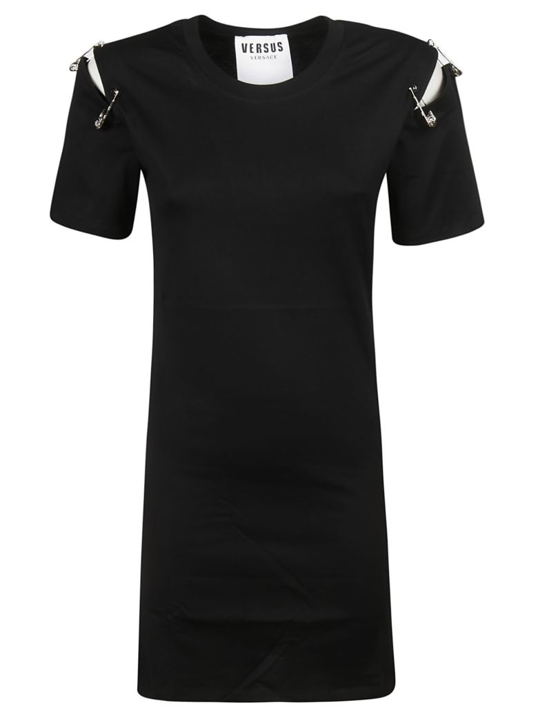 Versus Versace Safety Pin Attached T-shirt Dress