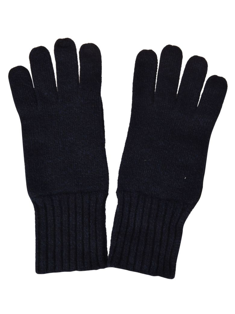 Fedeli Knitted Gloves - Blue