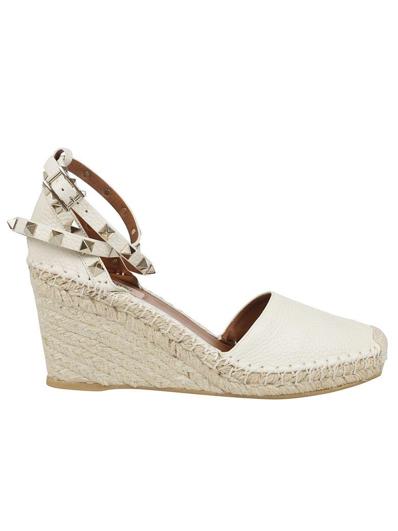 Valentino Rockstud Wedge Sandals - Livory