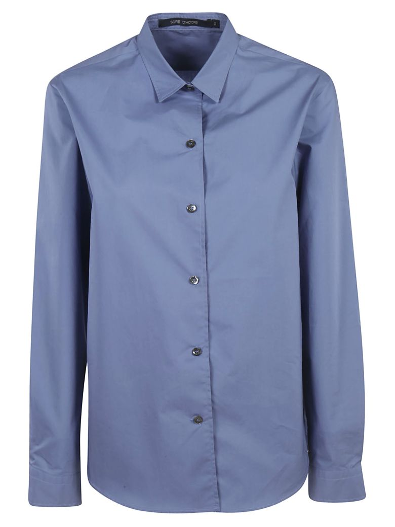 Sofie d'Hoore Back Long-sleeved Shirt - Blue Sea