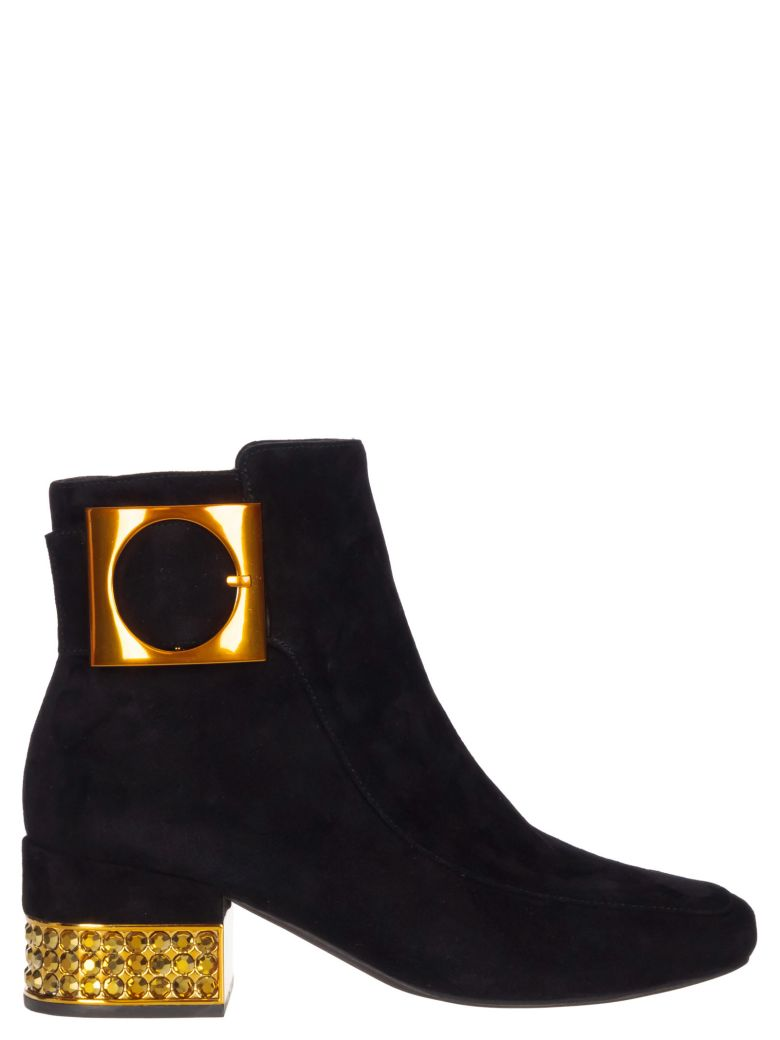 Jeffrey Campbell Suede Ankle Boots - Black