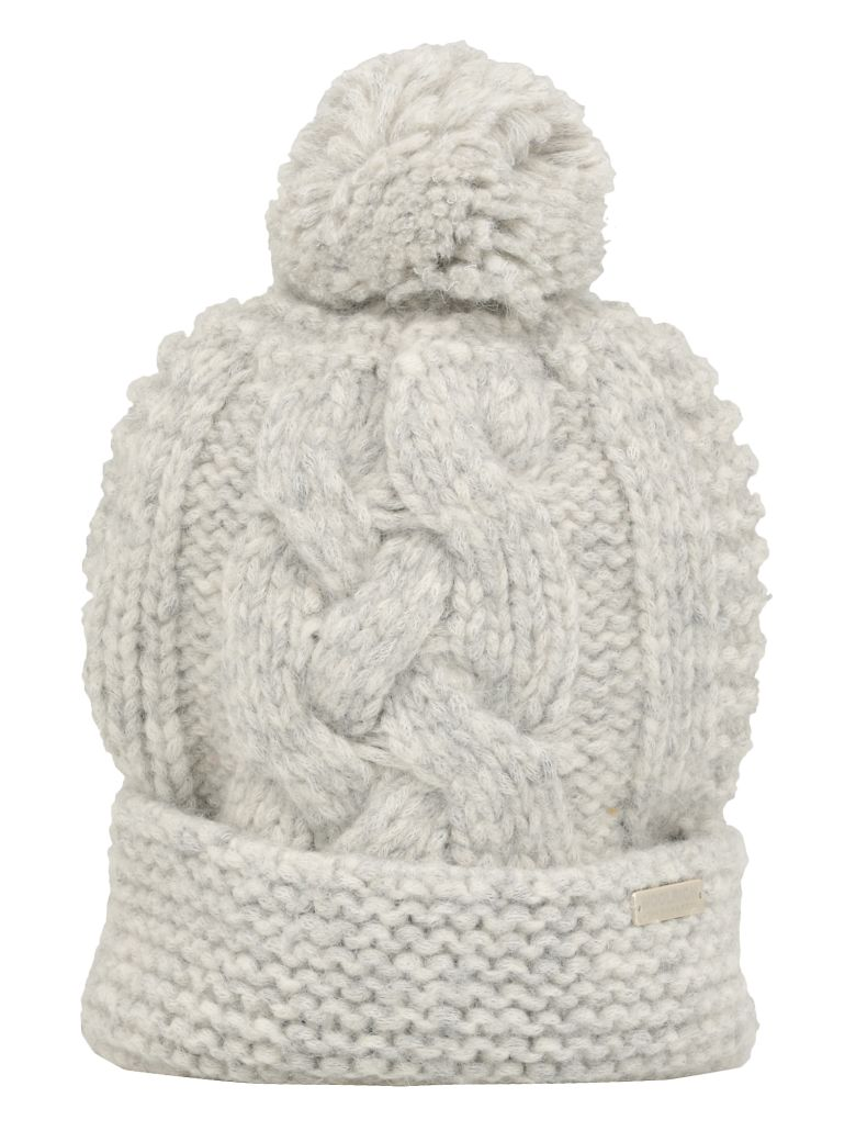 Woolrich Cable Knit Beanie - Light grey melange