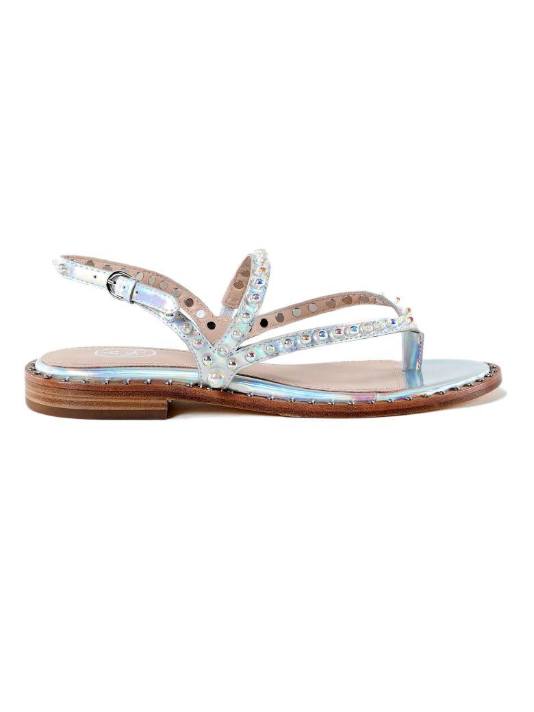 Ash Pearl Flat Sandals - Rainbow Silver