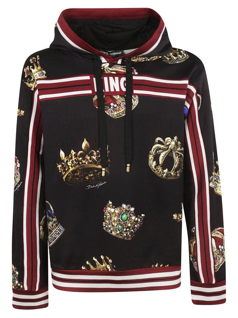 Dolce & Gabbana Crown Print Hoodie - Black