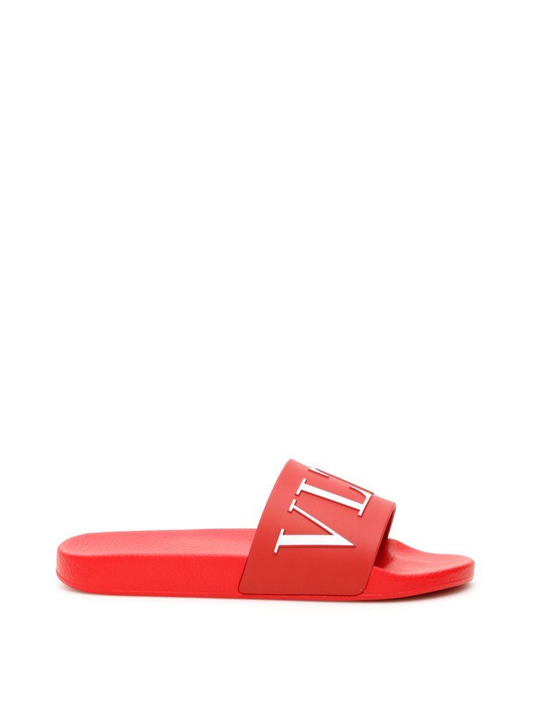 Valentino Vltn Slides - ROSSO BIANCO|Rosso