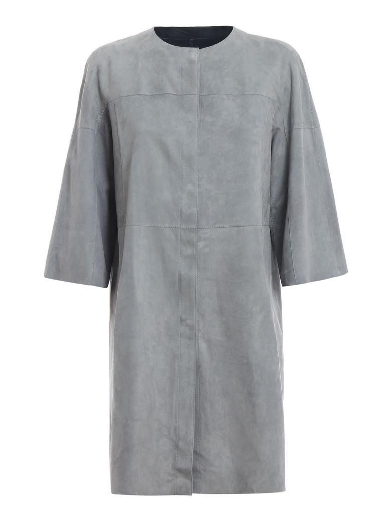 DROMe Drôme Reversible Coat - Navy/grey