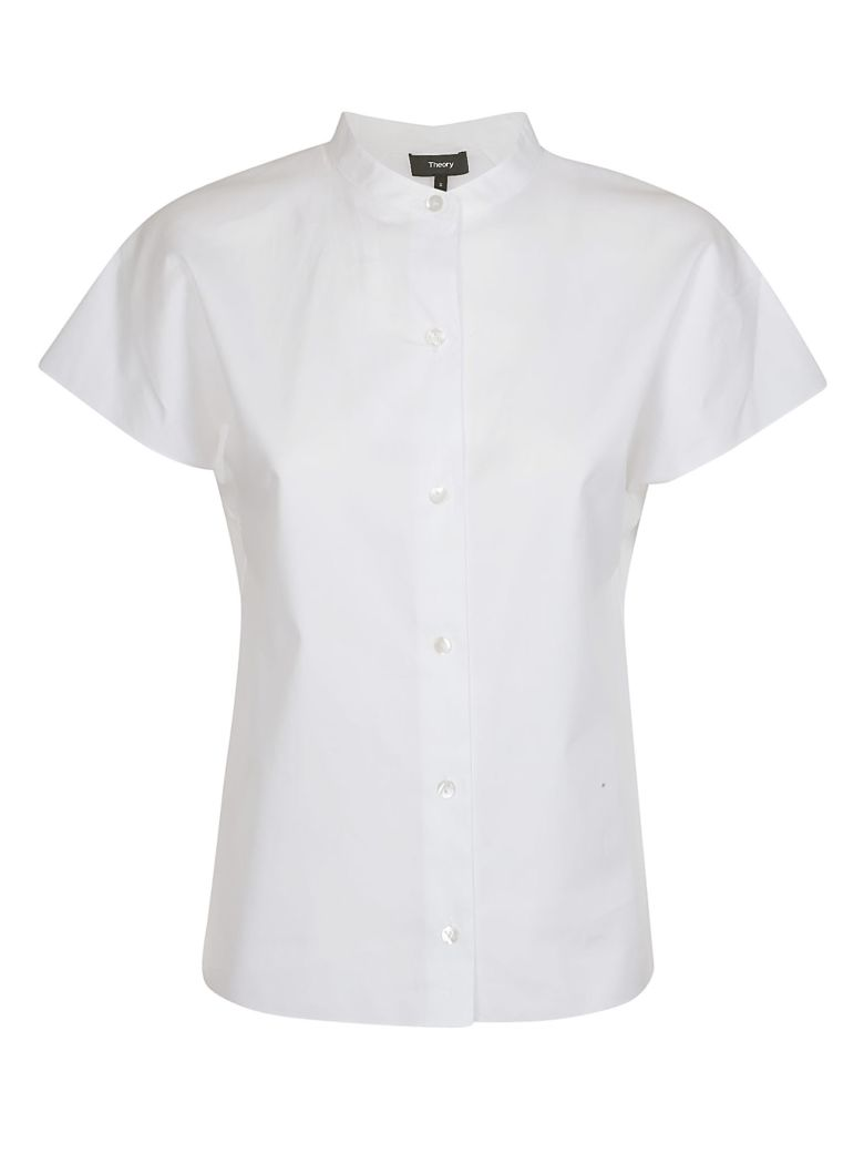 Theory Short-sleeve Fitted Shirt - White
