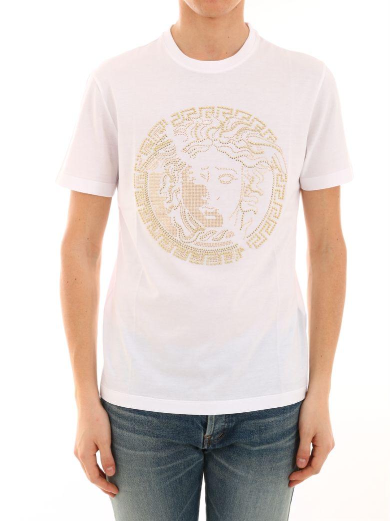 versace versace white t shirt gold medusa white 10812073 italist. Black Bedroom Furniture Sets. Home Design Ideas