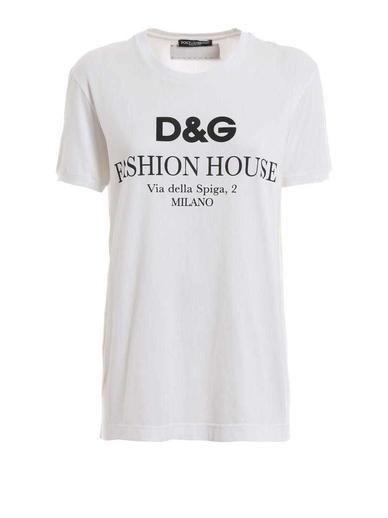Dolce & Gabbana Dolce & Gabbana Logo Print T-shirt - Dg Fashion House