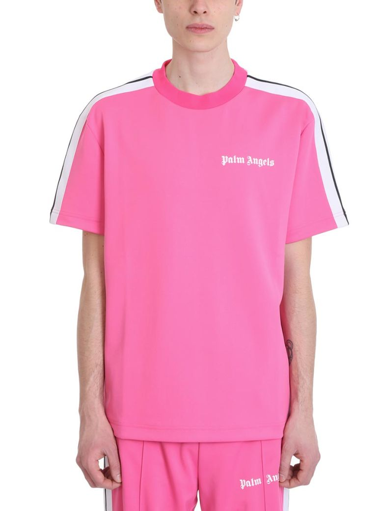 Palm Angels Pink Polyester T-shirt - Purple