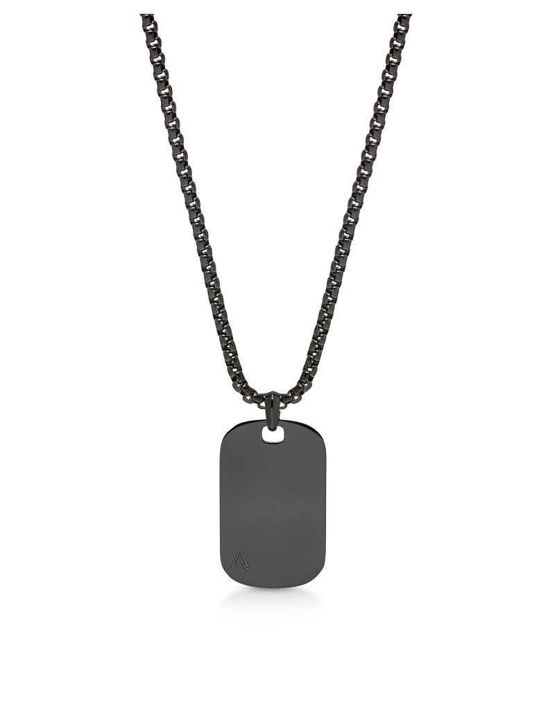 Northskull Id Tag Necklace Gunmetal - Gunmetal