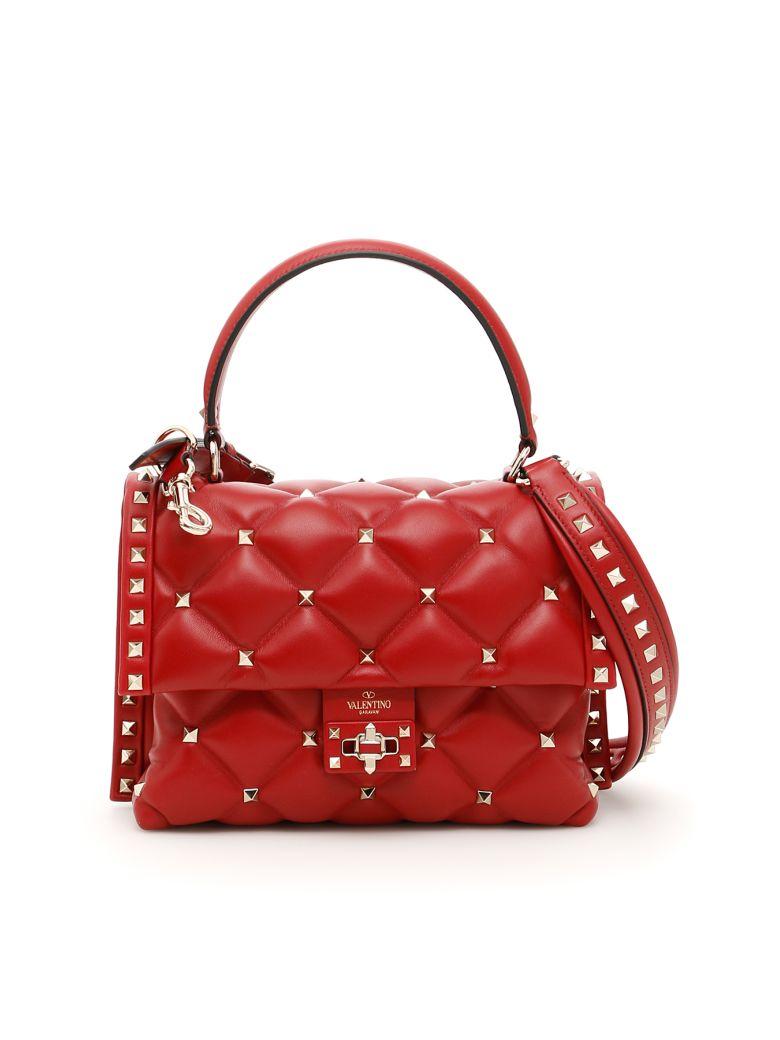 Valentino Candystud Handbag - ROSSO V (Red)