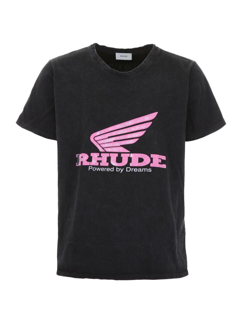 Rhude Logo Print T-shirt - BLACK|Nero