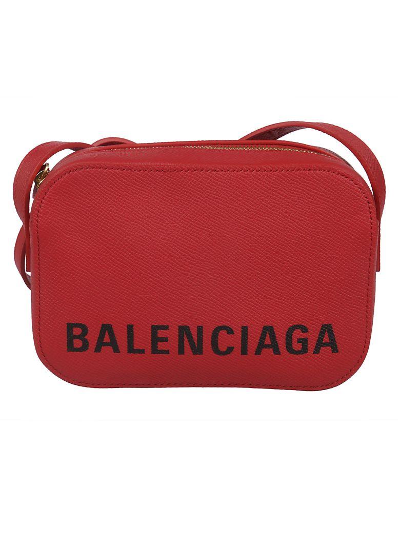 Balenciaga Souvenir Logo Print Shoulder Bag - Rouge Noir