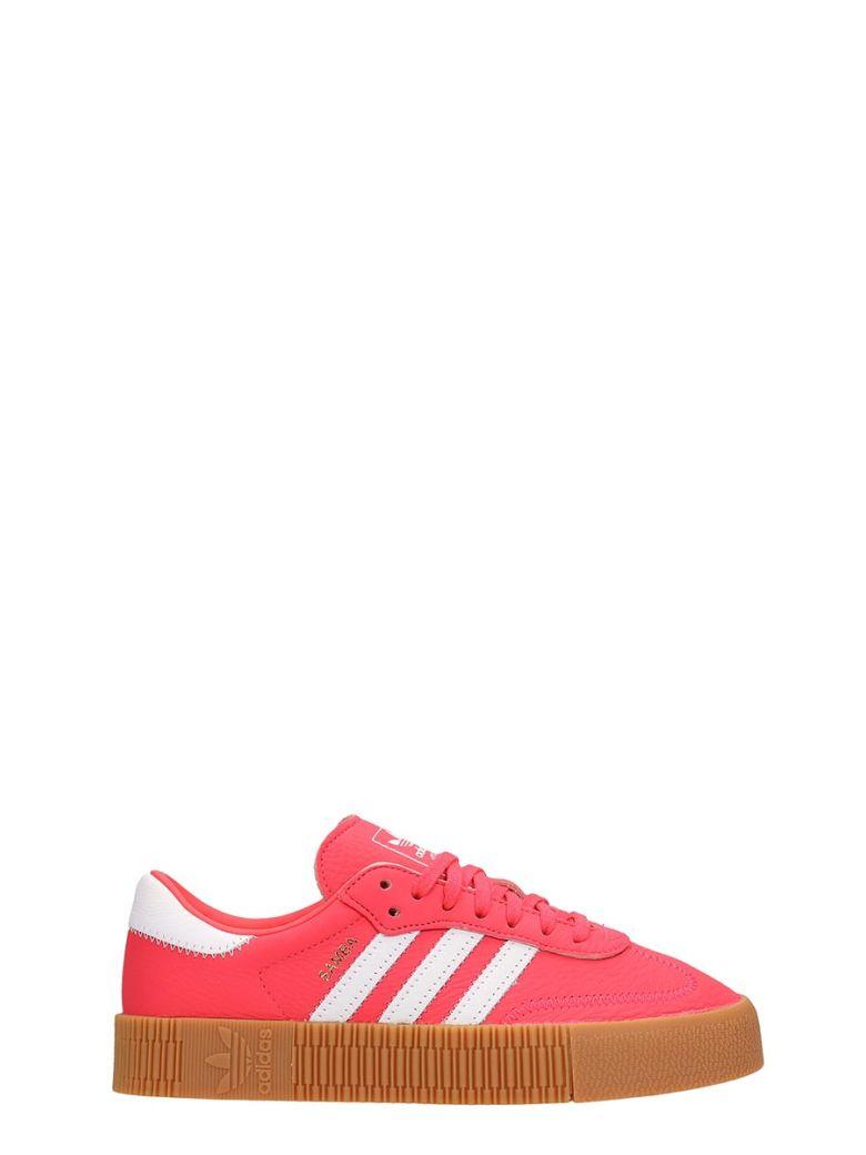 Adidas Fuchsia Leather Samba Rose W Sneakers - fuxia