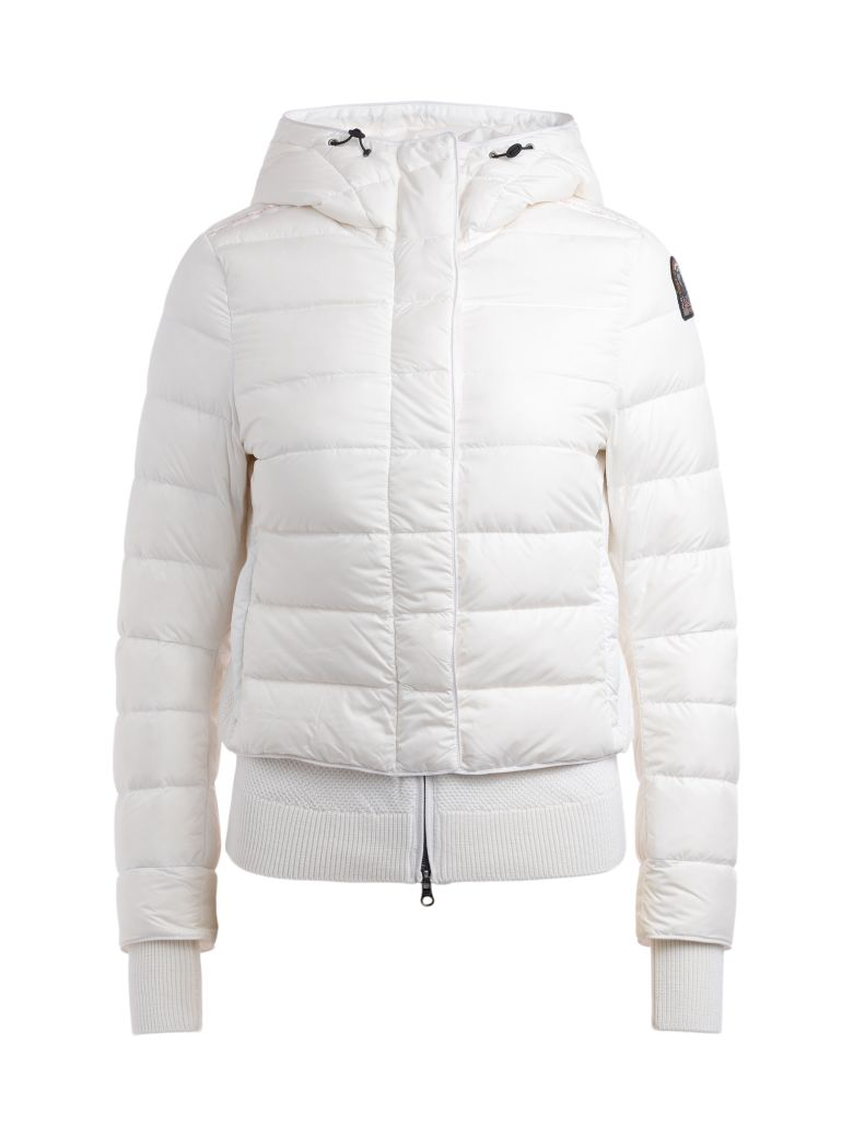 Parajumpers Parajumper Oceanis 411 White Down Jacket With Hood - BIANCO