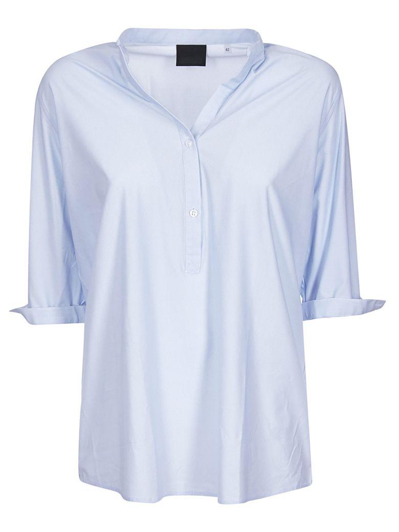 RRD - Roberto Ricci Design Collarless Shirt - Azure