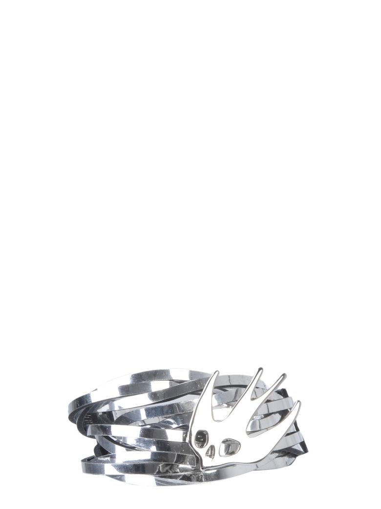 McQ Alexander McQueen Swallow Nest Bracelet - ARGENTO