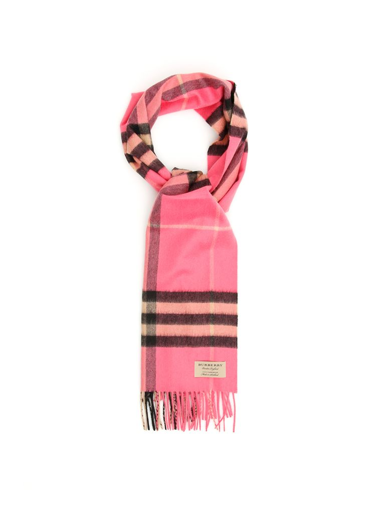 Burberry Giant Check Scarf - BRIGHT ROSE|Fuxia