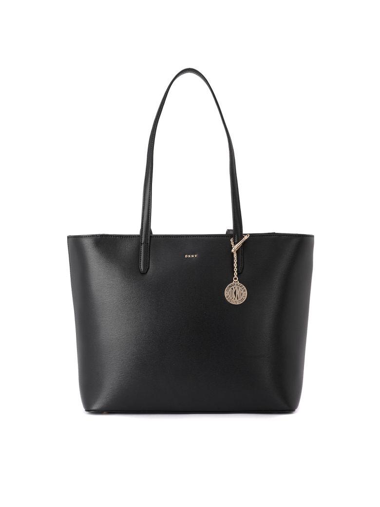 DKNY Bryant Black Leather Shoulder Bag. - NERO