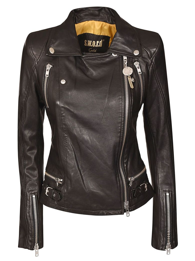 S.W.O.R.D 6.6.44 S.w.o.r.d. Zip-up Biker Jacket - Black
